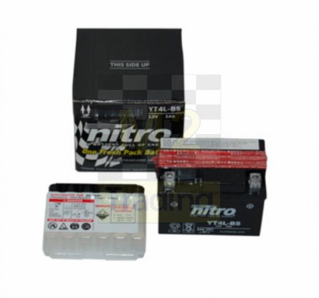 M2 Trading / Battery yt4l-bs onderhoudsvrij dj/ref/her/kb-k12/sni
