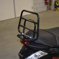Back carrier foldable Piaggio Zip 2000 black shine