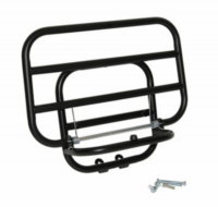 Luggage Carrier fold-away vespa lx\/s black mat