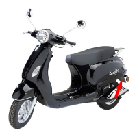 Rear fender China LX Napoli Riva VX50 black