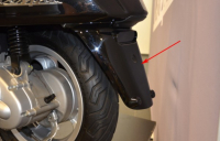 Rear fender Vespa Sprint black lucido 94