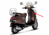 Leg shield Vespa LX brown marrone 112 a