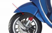 Protection cover front Front fork upper Vespa Sprint black matt Piaggio original 673645