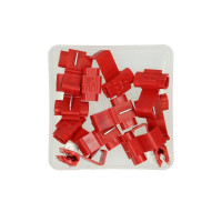 Cable connecting piece red 12 pieces