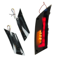 Knipperlicht set led tube rood streep Piaggio Zip 2000 smoke achter DMP