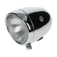 Koplamp rond oltimer model Puch 130mm chroom