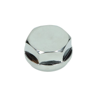 Top plate hex nut chrome Zundapp