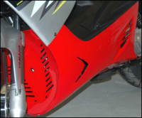 Under cover set + screw set 28019 Yamaha Aerox red DMP=op=op