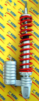 Shock absorber + gastank Piaggio 310mm red silver DMP