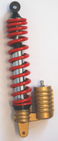 Shock absorber air + reservoir Malaguti F12 f15 scooter 320mm red DMP