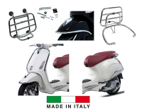 Protection bumper set + dragers (made in italy) complete Primavera Sprint chrome