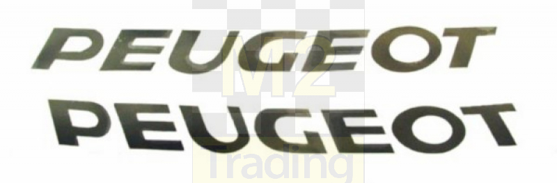 M2 Trading Aufkleber Peugeot Wort Peugeot Schwarz 2 Stücke