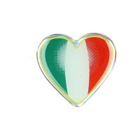 Sticker universal flag Italy hartje 3d by piece