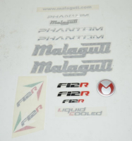 Stickerset Malaguti Phantom F12R oranje origineel 18148200