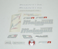 Stickerset Malaguti Phantom F12R Titanium origineel 18148201