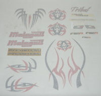 Stickerset Malaguti Phantom F12R Tribal origineel 18154300
