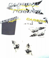 Stickerset replica Gilera Runner carbon=op=op
