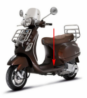Step floor Vespa LX brown marrone 112 a
