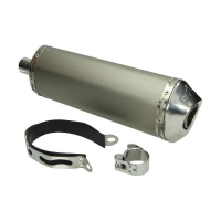 Exhaust (mod Akrapovic) silencer 4S Puch Maxi scooter 38mm universal aluminium