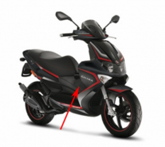 Heating grill Gilera Gilera Runner RST black on the right