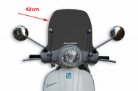Windscreen + fixation set smoke Vespa LX 2S Vespa LX 4S 42cm Malossi 4516054
