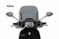 Windscreen + fixation set Vespa Sprint 43cm smoke Malossi 4516342