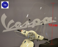 Windscreen high + fixation set (made in EU) Vespa LX