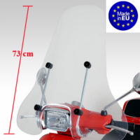 Windscreen high + fixation set (made in EU) Vespa S