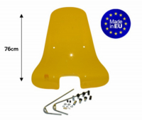 Windscreen high + fixation set (made in EU) Vespa S 76cm yellow (zie internet opmerkin