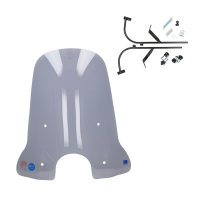 Windscreen high + fixation set Sym Fiddle 2 74cm smoke (made in eu)