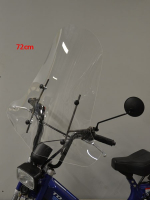Windscreen high + fixation set Tomos A35 72cm