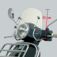 WindscreenHigh + Bev.Set Piaggio Lx Origineelineel