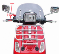 WindscreenLow + Bev.Set Vespa S Piaggio Origineel.