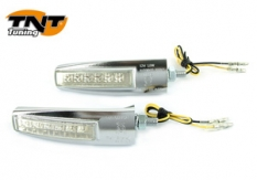 Knipperlichtset 6Led gehomologeerd viper chroom ce