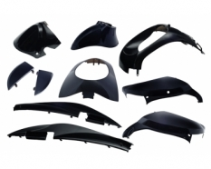 Body work set Sym Sym Mio 10 parts black metallic Edge