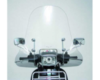 windshield faco vespa s 50-125-150 (2007) including mounting (chrome)