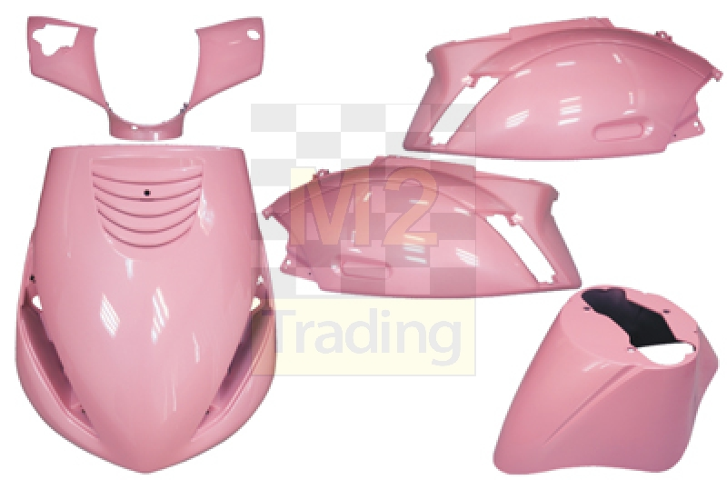m2 trading / body kit piaggio zip 5 delig roze
