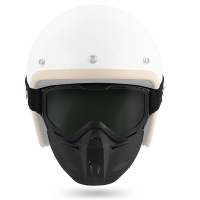 Masker + Goggle helm NO-END smoke vizier