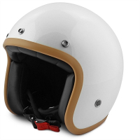 Jet helm NO-END glans wit maat XS
