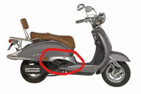Hielplaat Sideskirts China retro scooter rechts 50QT-E-050211