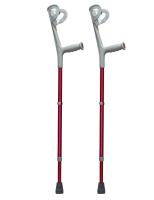 Forearm Crutches Standard Drive red