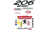 Peugeot Speedfight 2 WRC 206 stickerset