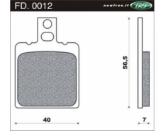Brake pads Aprilia RS 1993 And 1996 front