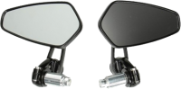 Mirror bar end CNC scooter and motor bike black DMP