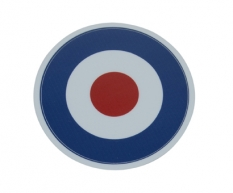 Sticker Piaggio tricolore rond target rood\/ wit\/ blauw