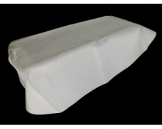 Cover buddyseat \/ cover buddyseat white with logo Piaggio zip2000 Sp 2T & 4T