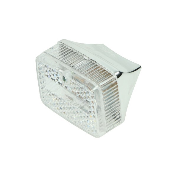 Achterlicht klein chrome wit glas maxi DMP