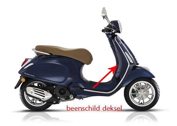 Beenschild deksel Vespa Primavera blauw met 289 a Piaggio origineel 67361800dk