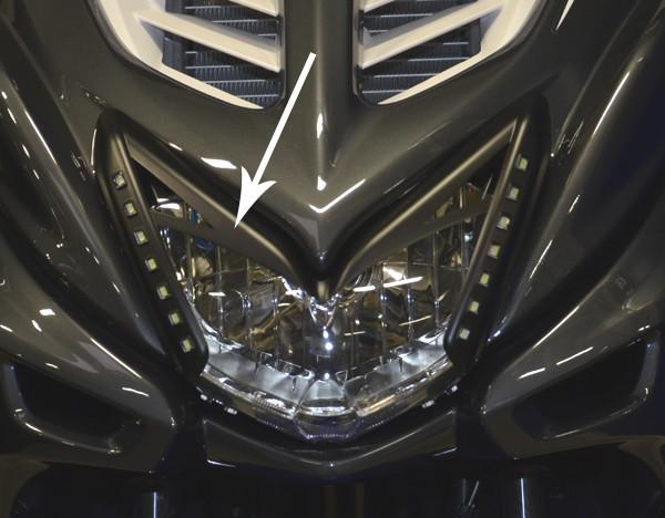 Booskijker + ledverlichting Yamaha Aerox 2013 DMP