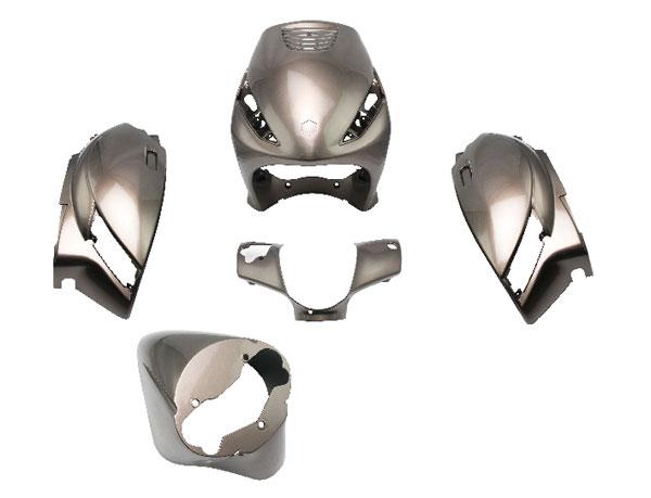 Kappenset Zip 2000 bruin metallic DMP 5-delig op=op